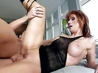 Older Redhead wearing Boots is a Bitch