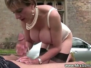 Sex on stairs with slutty cheating wife