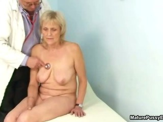 Grandma gets a full body inspection from