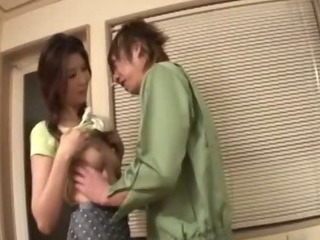 Sweet but lonely Japanese cougar Nanako uses her handyman to fix her sexual itch