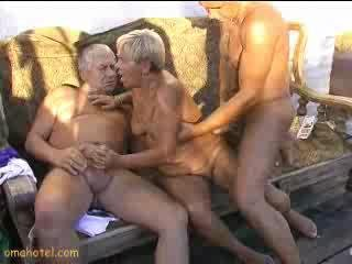 Granny sucking cocks