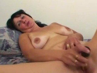 Old horny wife using her adult toy