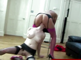 mature in stockings in meange a trois