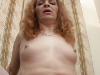 Slutty milf babe rides his young cock