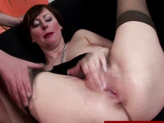 Classy mature in stockings gets fucked