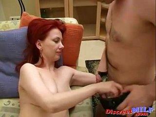 Redhead mom Iren and Romeo