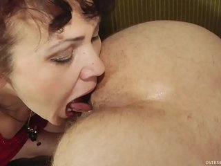 Mature lady with young guy