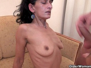 Hairy mom gets fucked by her toy boy