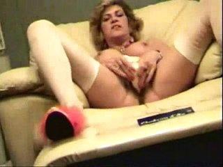 My horny mom self taped masturbating. Stolen video