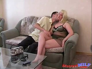 Busty lonely mom Vika and Anton