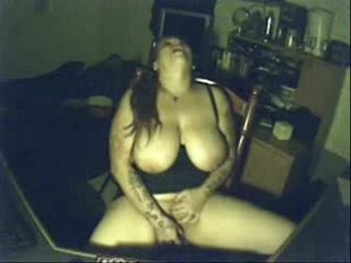 My pervert busty mom having fun at PC. Hidden cam