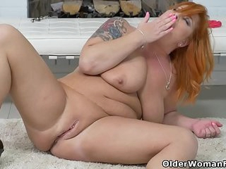 Euro milf Alex gets overwhelmed by her throbbing pussy