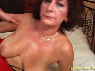 hairy oiled busty mom fucked