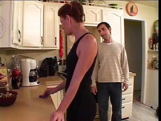 Fucking best friend's mom in kitchen
